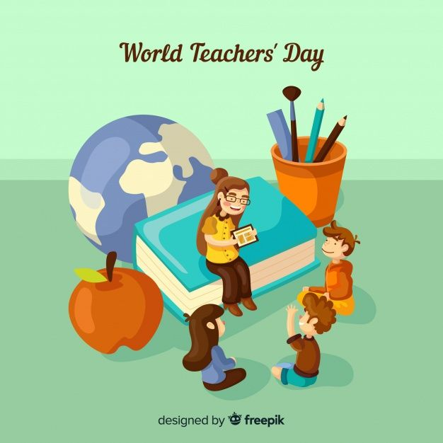 Lovely World Teachers Day Composition With Flat Design World Teacher Day World Teachers Happy Teachers Day