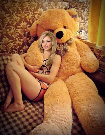 ♥Life Size Teddy Bear♥ I WANT THIS