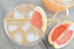 Grapefruit Margarita. 2 oz tequila - 1 oz orange liquor (Grand Marnier, triple sec, cointreau) - 3 oz grapefruit juice - 1/2 oz Liquid Gold Grapefruit Balsamic  - simple syrup to taste  - Salt for rim of glass (optional)  - Grapefruit slice (optional)  A splash of  soda water