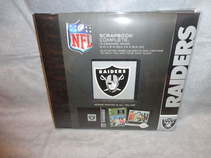 "OAKLAND RAIDERS TEAM LOGO SCRAPBOOK COMPLETE KIT 8""X8"" NFL W EMBELISHMENTS #OaklandRaiders"