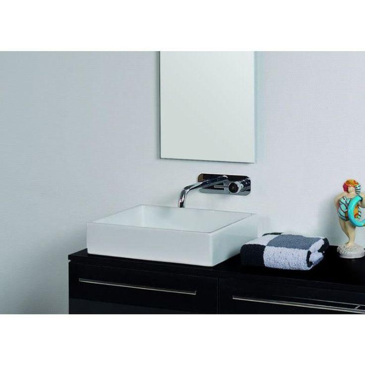 Mooie Wastafels Badkamer ~ ink topdeck 45 unlimited waskom zonder kraangat porselein 50x38x11cm