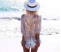 Inspiring image beach, beautiful, beauty, blond, blue #4349314 by Bobbym…