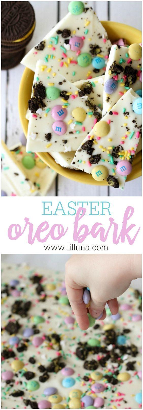 Easter Snacks | Treats | Desserts | Oreos | Bark | Party Food | Kids | M&Ms