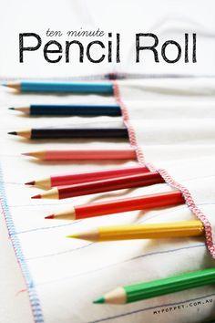 Schöne schnelle Tasche für Stifte oder Pinsel