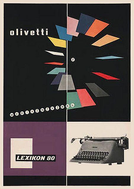 1950 Olivetti Lexikon 80 poster by Giovanni Pintori