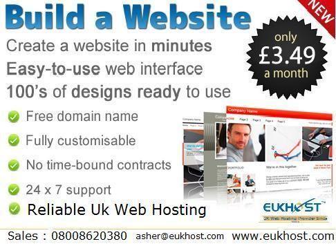 Build a website by eUkhost....  http://www.eukhost.com/build-a-website/