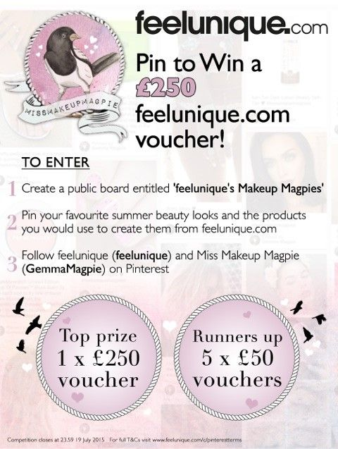 Enter our #competition to win £250 to spend on feelunique.com! t's&c's: http://bit.ly/1fFPrOK