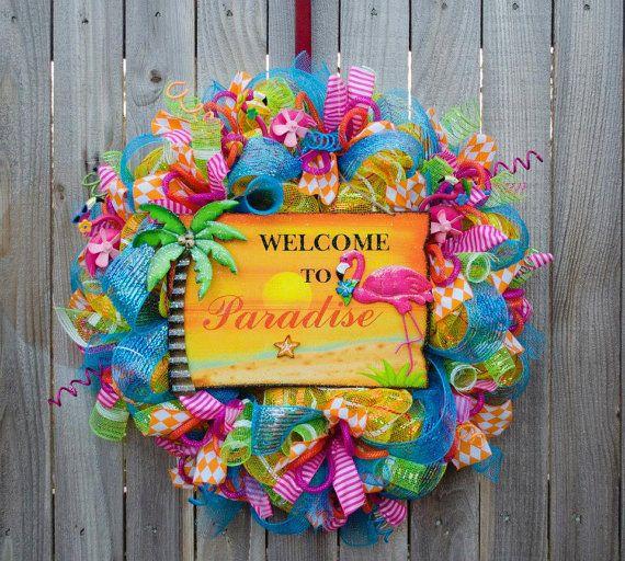 49 Best Images About Wreath Summer On Pinterest Deco