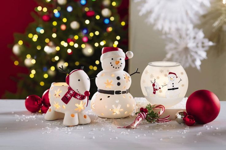 Super cute little light based christmas decorations! Snow Family tealight holder Accessories & decoration by PartyLite