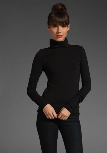 Audrey Hepburn's turtleneck by Theory (Encase Elisabeth turtleneck). To be work with black wool capris and black ballet shoes.