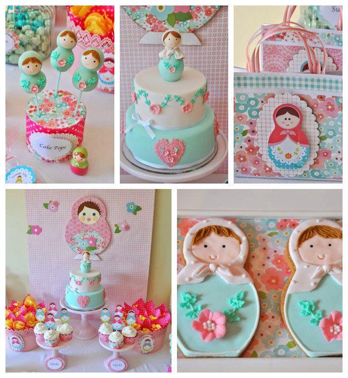 Matryoshka Doll Themed Birthday Party via Kara's Party Ideas