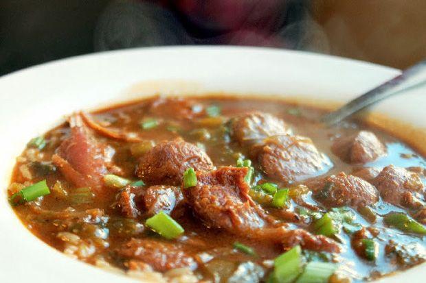 Smoked-Turkey-Gumbo Recipe - RecipeChart.com #Christmas #Delish #Flavorful #Holidays #MainDish #Savory #SoGood #Yum