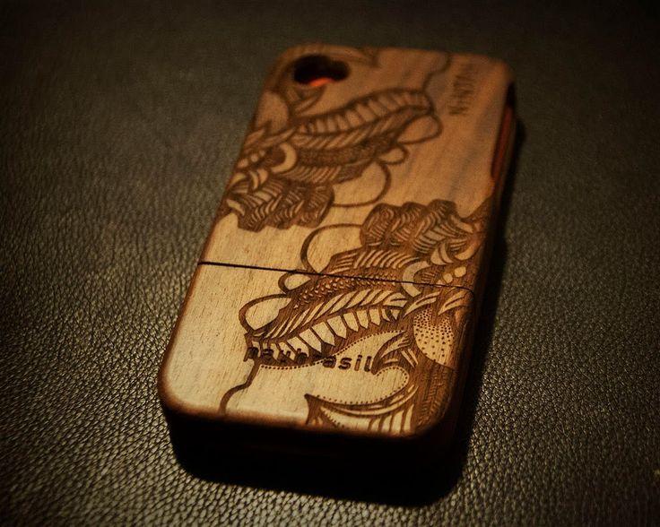 Capas de madeira para celular personalizadas - Grife Paubrasil