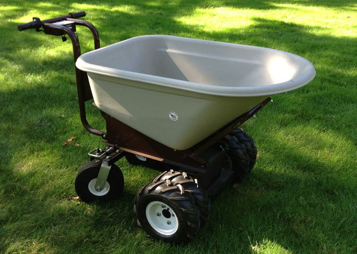 Photo of our electric power wheelbarrow taken by Monica Hemingway of Garden Products Review.