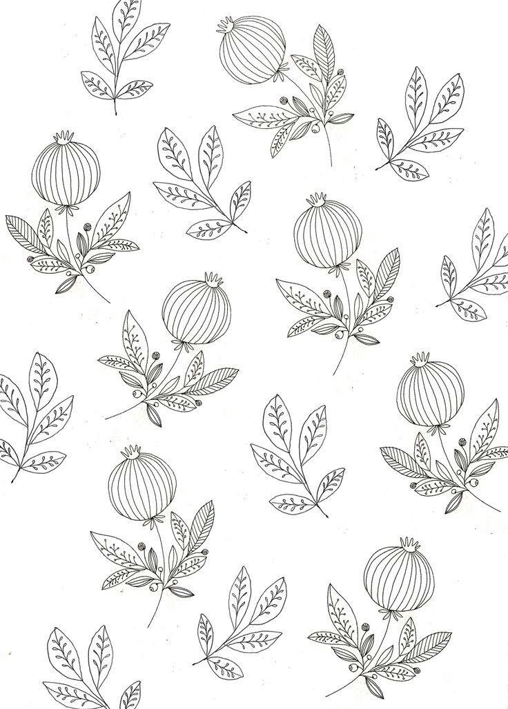 Musterbeispiele Musterkunst Blumenzeichnung Drucken