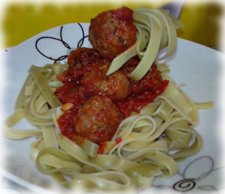 Tallarines con Albóndigas - Cocina con los Rolo