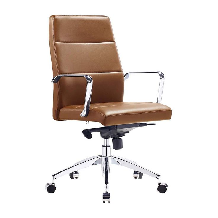 Life Interiors - Manhattan Management Office Chair (100% Italian Leather) - Modern Office Chairs For Your Office Chairs Online or In Store!
