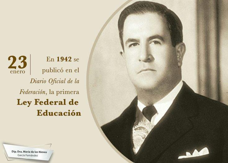 Siendo presidente de México, Manuel Ávila Camacho, se publicó en el Diario Oficial de la Federación, la primera Ley Federal de Educación, para promover la investigación científica, el intercambio intelectual y uniformar los elementos culturales que lleven a una unidad nacional.
