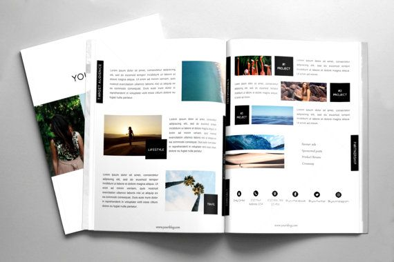 Blog Media Kit Template for MS Word Designed for by LambrosiaShop