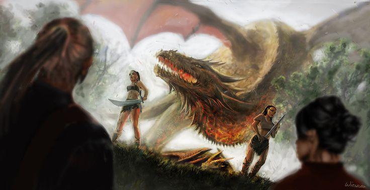 Golden dragon 2 by Wieszcza.deviantart.com on @DeviantArt
