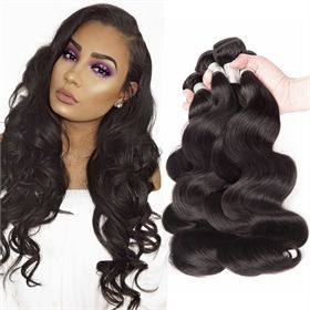 Natural Color Brazilian Virgin Hair Body Wave 3 pc/lot BVMD0024