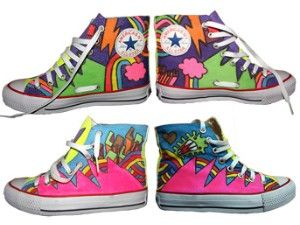 Hand painted sneakers High-top Painted Canvas Shoes,High-top Painted Canvas Shoes