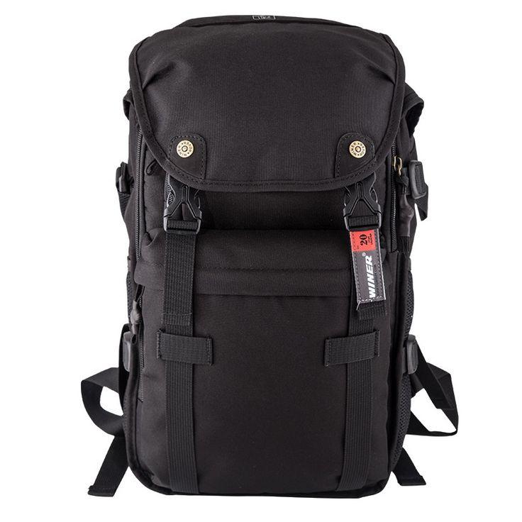ワイナーローバー66写真デジタル一眼レフブラックカメラビデオ黒バッグ旅行バックパック付き防水ケース用ニコンキヤノン三色