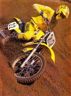 Vintage, Yamaha motocross and Motocross on Pinterest