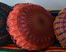 Enorme 35 inch mandala tapestry kussen cover, boho vloer kussen, Boheemse vloer kussen, zitplaatsen boho, boho decor