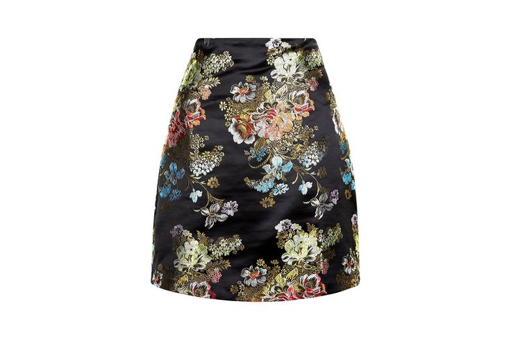 I have this thing with jacquard...Black Floral Jacquard Mini - £22.99, New Look
