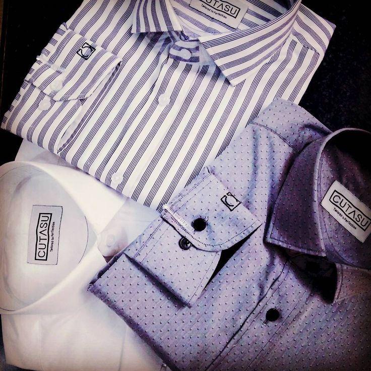 Custom tailored shirts at your doorstep.   Design now at www.cutasu.com    #cutasu #customshirts #mensfashion #shirts # dapper #custommade #tailored