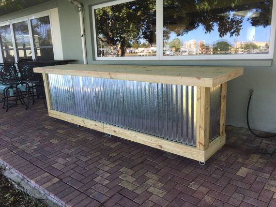 The Beer Pong - 12' corrugated metal rustic outdoor patio