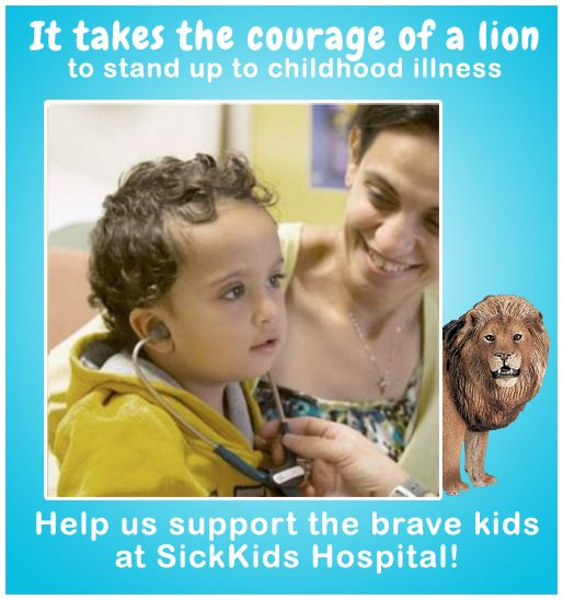 Week One of our May campaign to help Sick Kids. 10% of all Schleich sales in may will be donated.