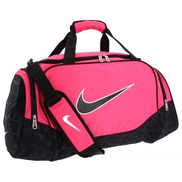 Gym Bag Jim Kidd: Nike Brasilia 5 Pink And Black Medium Duffel Bag At