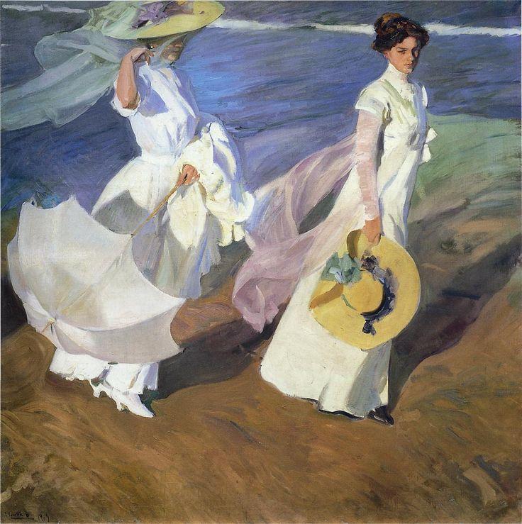 Joaquín Sorolla y Bastida  (Espagne, 1863-1923) – Promenade by the Sea (1909)