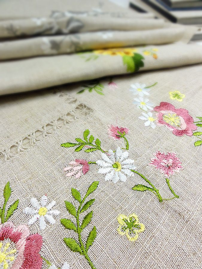 It is the beautiful embroidered fabric which we collected.