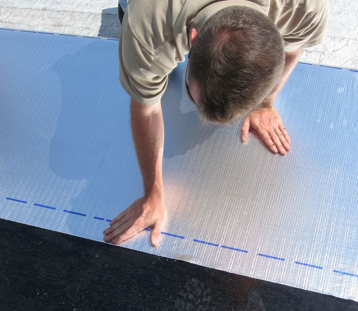 Peel and seal installation roll roofing roofing roof