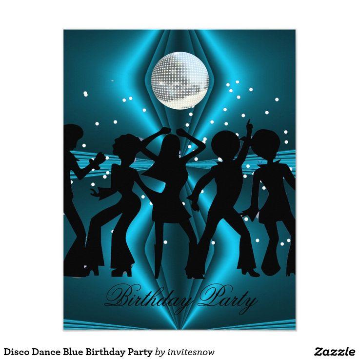 Disco Dance Blue Birthday Party