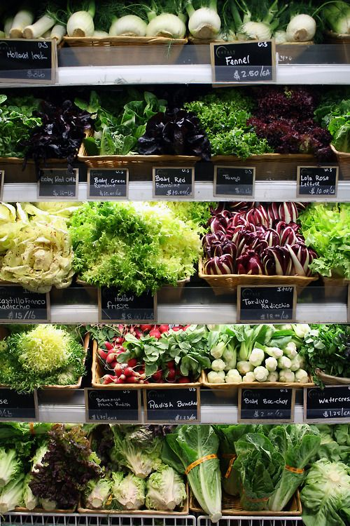 I want to grow all of these! eatalynyc: Pretty produce @eataly