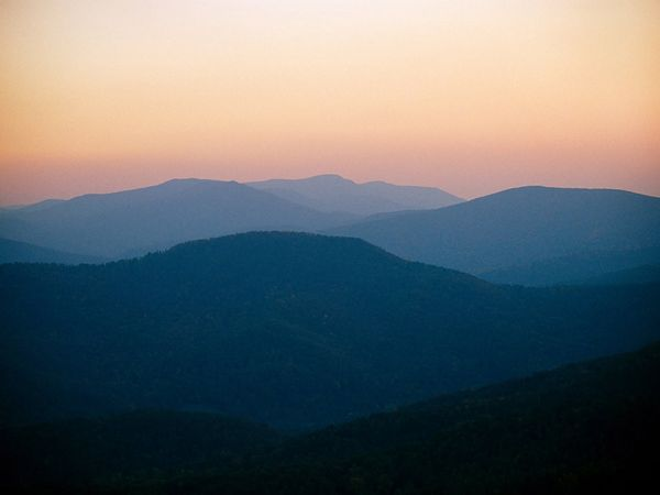 Blue Ridge Mountains {viewed from Skyline Drive in Shenandoah National Park}