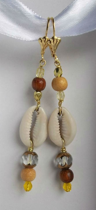 Oshun earrings by The Black Owl Jewelry on Etsy