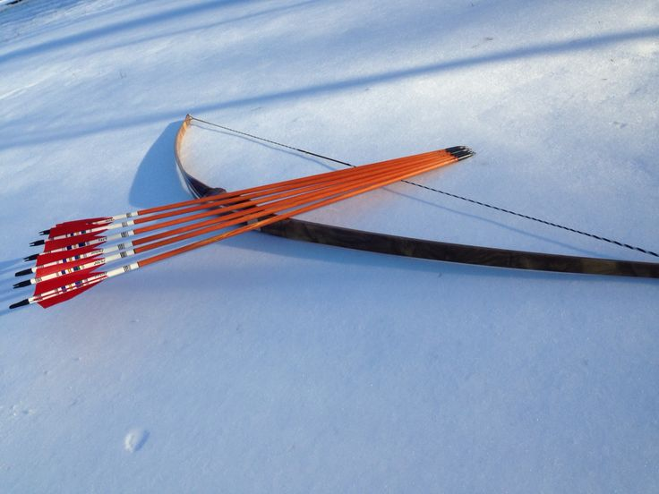 Longbow Archery with arrows from Nahgolderfahrung