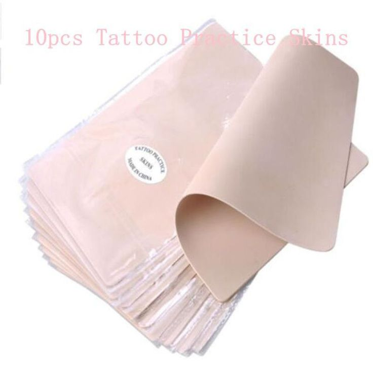 10pcs/lot Permanent Makeup Tattoo Practice Skins Blank Tattoo Practice Fake Skins Best Quality Double Sided For Beginner Artists