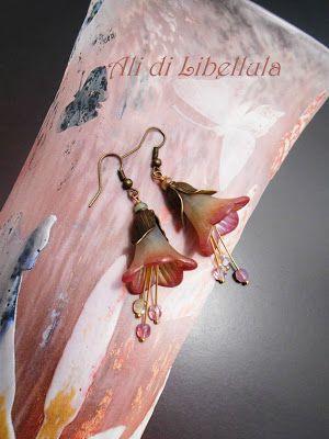 Ali di Libellula: LUCITE IN FIORE- Orecchini
