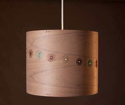 Jane Blease Design Embroidered Walnut lampshade
