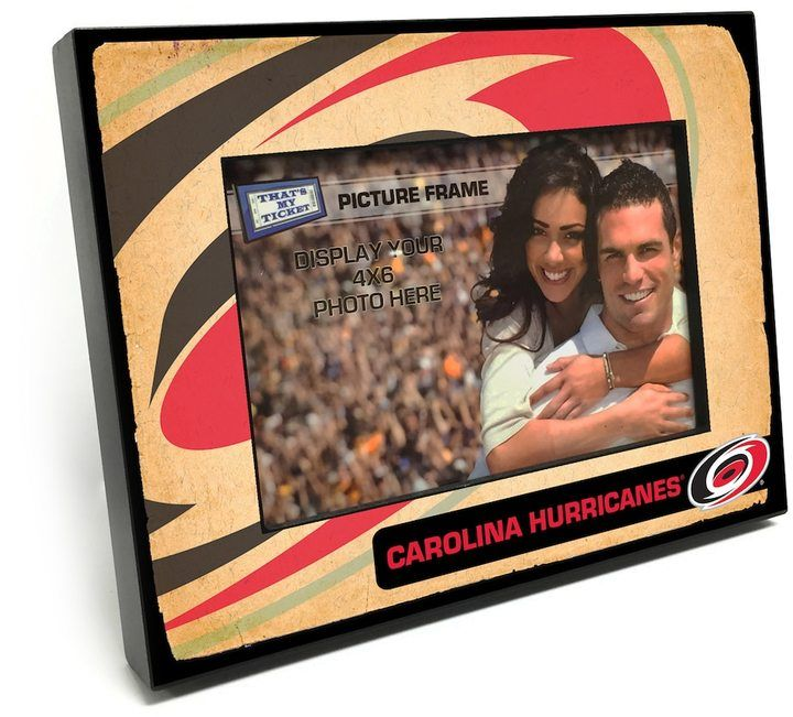 "That's My Ticket Carolina Hurricanes Vintage 4"" x 6"" Wooden Frame"