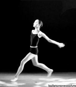 gif Black and White ballerina ballet dance Dancer black and white gif jazz contemporany