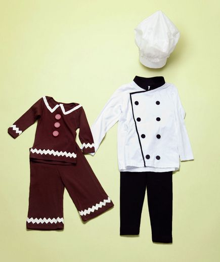 How to make gingerbread boy and baker costumes and other simple family costumes