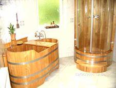 Wanny drewniane, sauny z drewna, wanny z hydromasażem, umywalki, Blumenberg