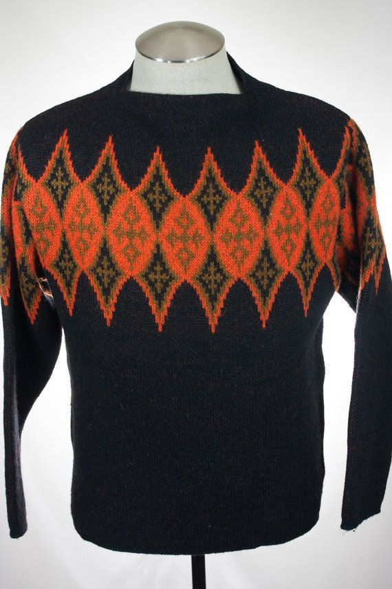 Vintage Mens 1960s Stampe Sweater Made By #Janus by #HandpickedFinds